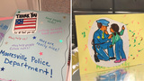 After recent attacks, local police receive cards, support from community