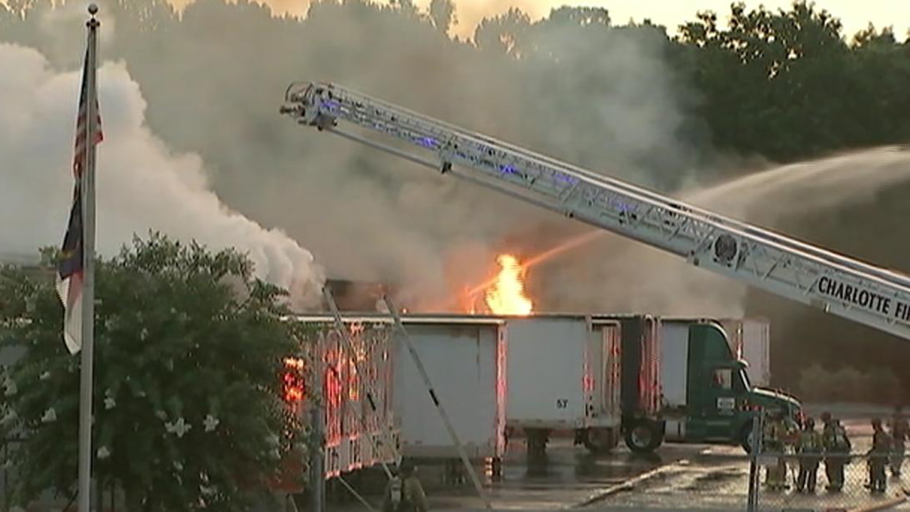 5 injured in explosion and fire at north Charlotte trucking company