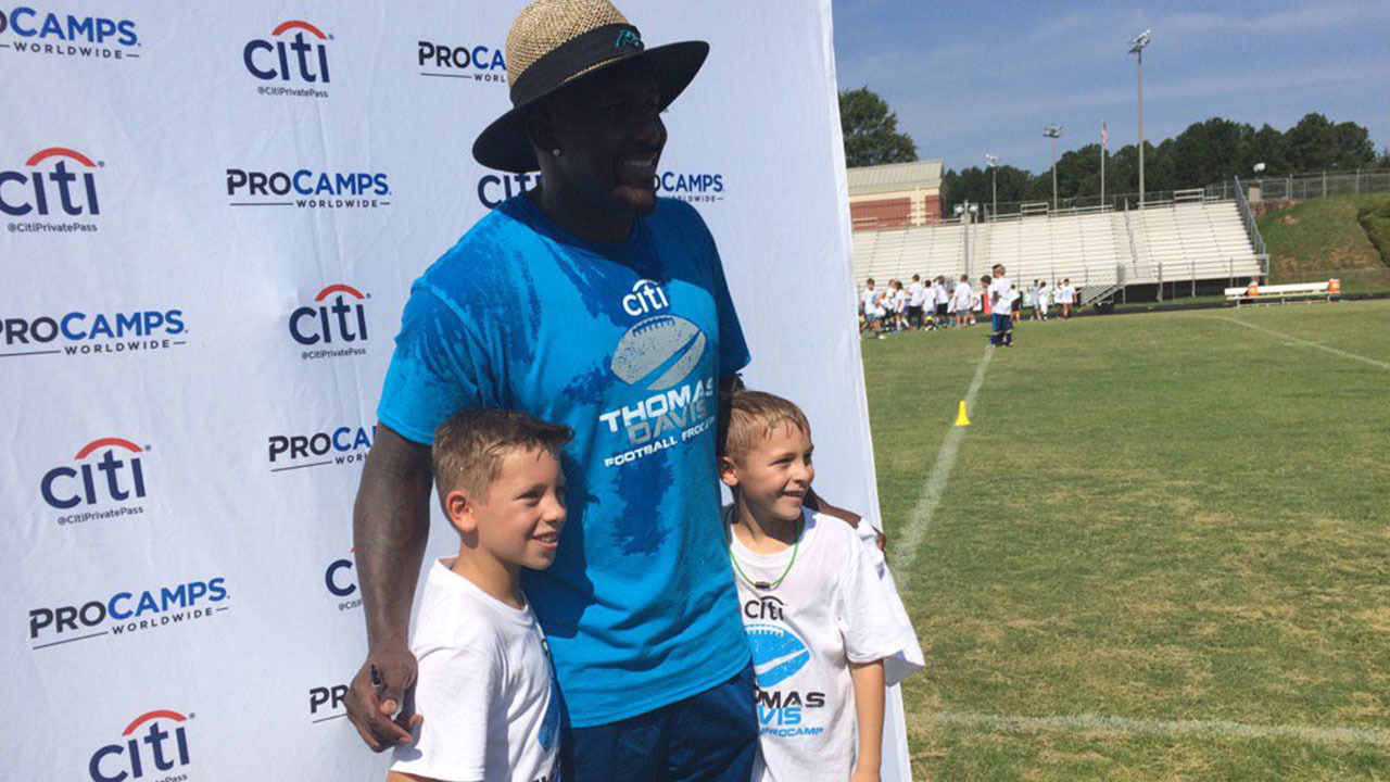 IMAGES Panthers Thomas Davis holds football camp for kids