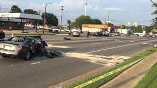 PHOTOS: Police chase, crash in Gastonia