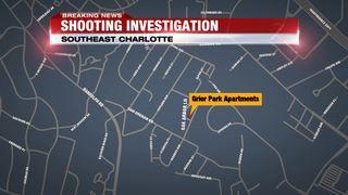 Man shot twice outside southeast Charlotte apartments