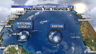 Tropical Storm Gaston forecast to become a hurricane in Atlantic