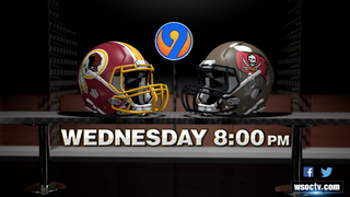 Bucs-Redskins preseason game on WSOC-TV moved to Wednesday because of storm