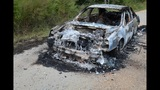 Burke Co. Sheriff's Office investigating human remains found inside burned out car.