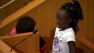 Crying girl to Charlotte council: