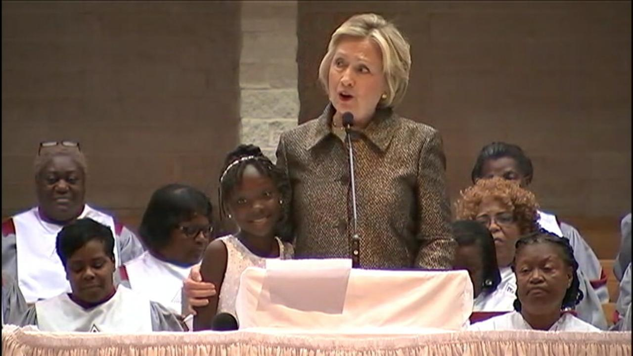Image result for pictures Hillary Clinton and Zianna Oliphant