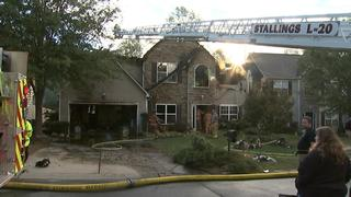 PHOTOS: Five escape fire that destroys Indian Trail house