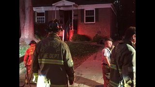 PHOTOS: Police investigating house fire as possible arson