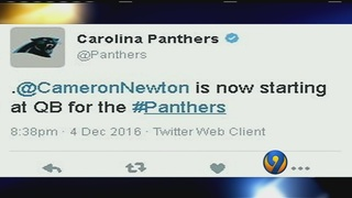 Newton benched for first drive of Sunday night
