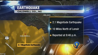 Small earthquake reported in Lenoir