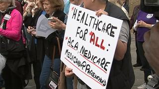 Dozens rally in Charlotte to keep Obamacare; GOP outlines replacement
