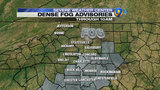FORECAST: Dense fog advisory for morning communte