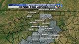 FORECAST: Dense fog advisory for morning communte