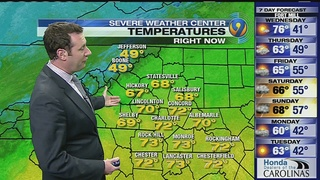 FORECAST: Highs reach 73 degrees, smashing 80-year-old record