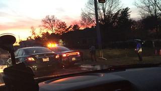 Pedestrian injured in northeast Charlotte chase