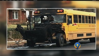 Fire forces students off CMS school bus in Plaza Midwood