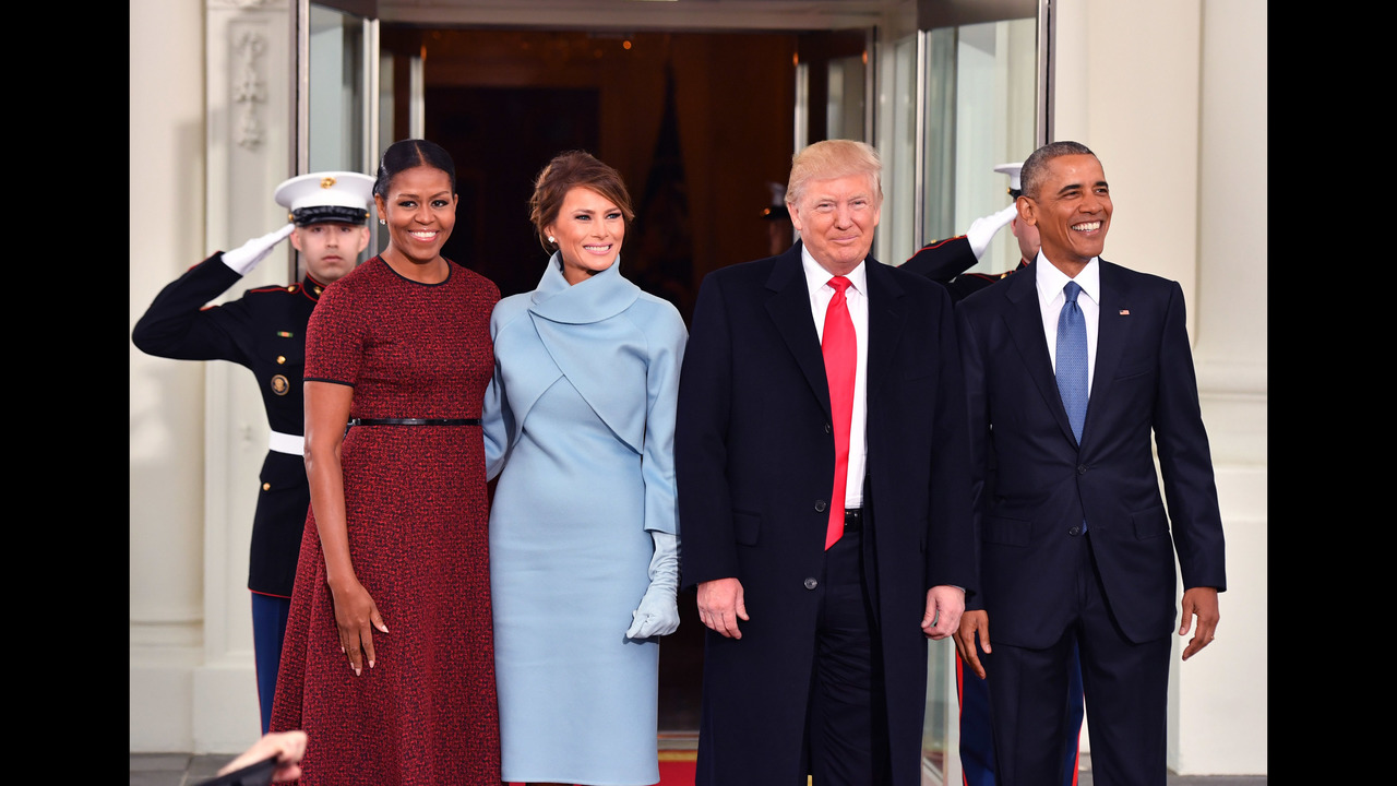 Images president obama first lady michelle obama greet trumps at images president obama first lady michelle obama greet trumps at white house m4hsunfo