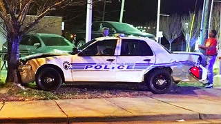 Driver charged with DWI after slamming into CMPD cruiser