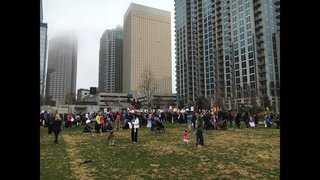 PHOTOS: Thousands gather in uptown Charlotte for Women