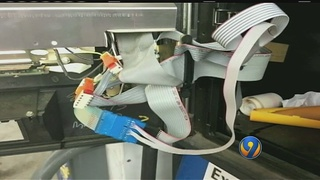Cords planted inside gas pumps may be used to steal credit card information