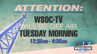 WSOC-TV, TV64 to go off air briefly Tuesday morning