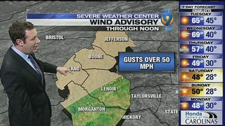 FORECAST: High winds in mountains, chilly temps for end of week