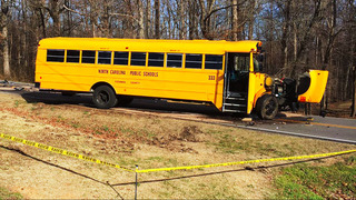 1 dead after SUV, school bus collide in Catawba County