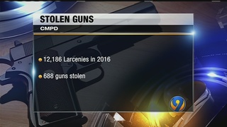 Nearly 700 guns stolen from vehicles last year, CMPD says
