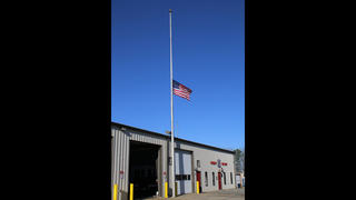 IMAGES: Flag at half staff in memory of Stanley police sergeant