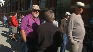 Fans line up Saturday to buy Charlotte Knights tickets