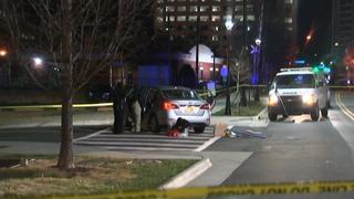 IMAGES: 2 officers hit by car in uptown; police investigating
