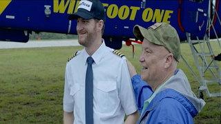 WATCH: NASCAR driver Dale Earnhardt Jr. surprises NC vet on blimp