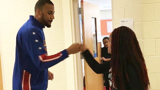 Teacher with unique handshakes for students treats them to surprise