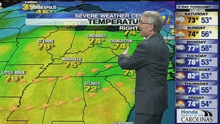 FORECAST: Warm weekend in store but rain also on the horizon