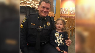 WATCH: Police officer dines with 4-year-old girl in adorable video