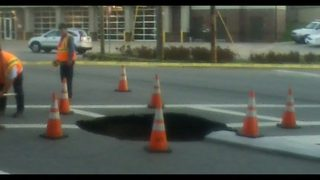 Sinkhole in Hickory shuts down major roadway