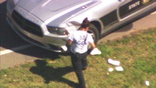 IMAGES: 1 dead, 3 hurt after minivan wrecks following chase