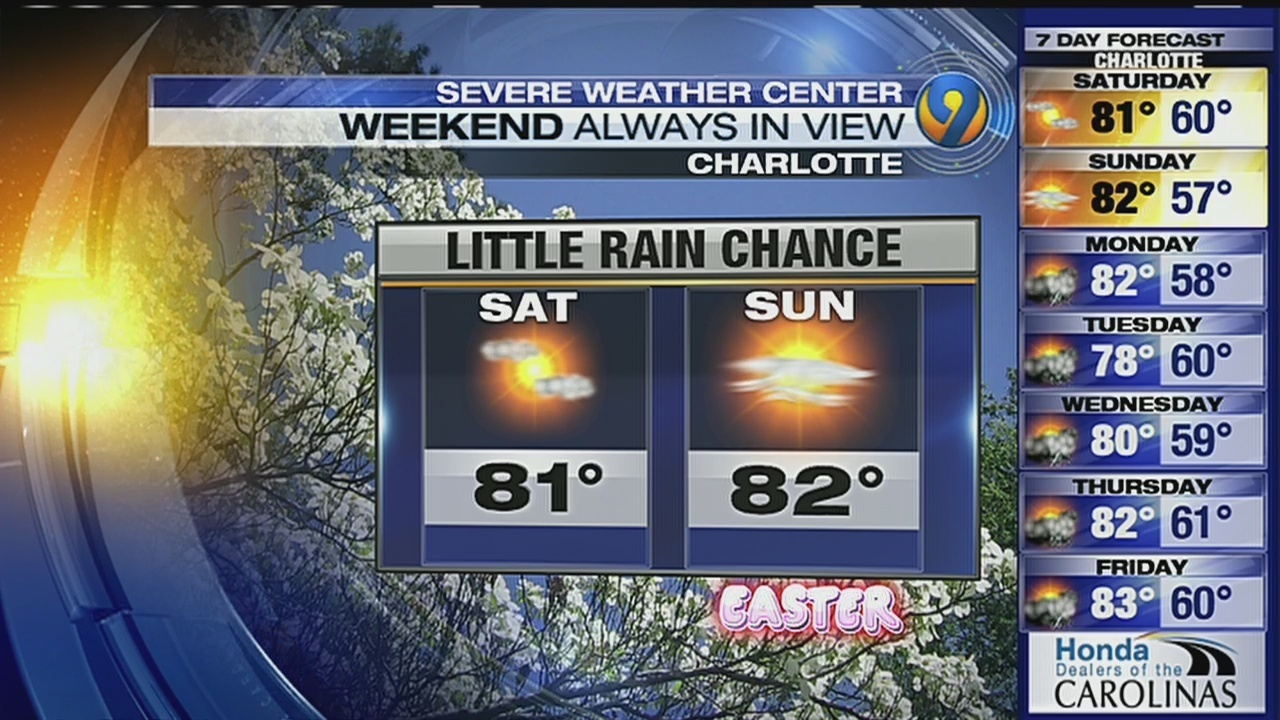 FORECAST: Warm start to a fair weather Easter weekend | WSOC-TV