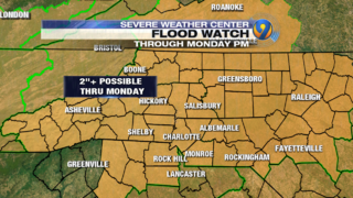 FORECAST: Flood watch in effect through Monday evening