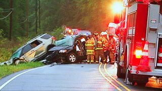 One dead in three-car T-bone crash in Concord, troopers say