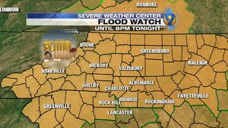 TRACKING: Charlotte sees record rainfall; Flood Watch in effect