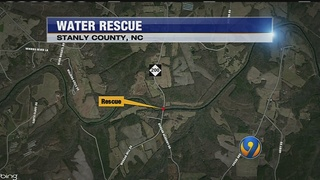 Crews respond to water rescue in Stanly County