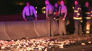 Scattered chicken parts close I-77 in Davidson for hours
