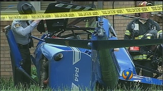 2 injured after helicopter hits home, crashes in Newton