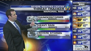 FORECAST: Clouds rolling in as afternoon storm chances build