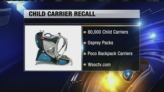 Child carriers recalled; children could slip through