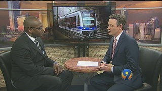 CATS CEO speaks to Channel 9 about Blue Line Extension delays