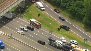 1 killed in fiery crash on I-485 in south Charlotte