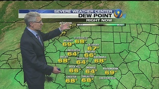 Possible morning showers lead to cooler temperatures Tuesday