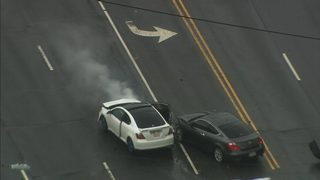 MUST SEE: Carjacking suspects chased by CMPD before crashing in north Charlotte